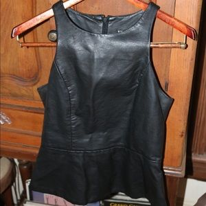 Faux Leather Express Top
